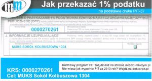 1 % podatku dla Sokoła.